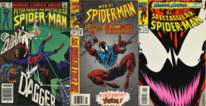 Spectacular and Web of Spiderman Covers